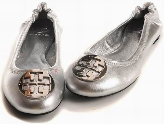 Tory Burch Flat Shoes Silver Wmns