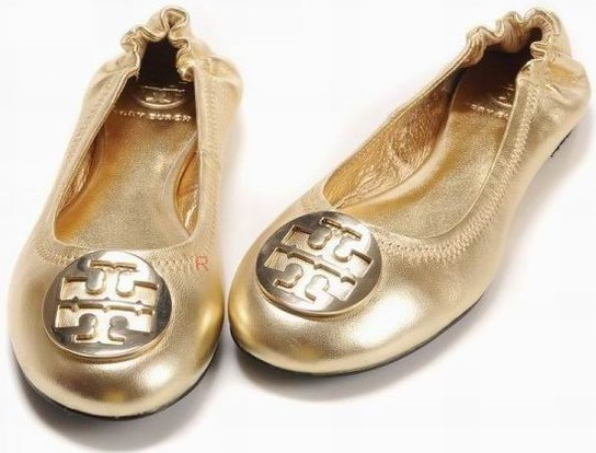 Tory Burch Flat Shoes Gold Wmns