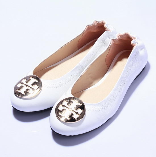 Tory Burch Flat Shoes White Wmns